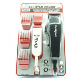 Wahl Designer 8331 Hair Clipper and Peanut Trimmer All Star Combo - Black